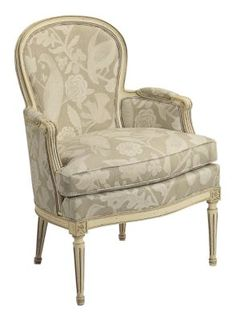 Louis XV Bergere Chair from the Mark Hampton collection by Hickory Chair Furniture Co.