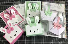 Mama Elephant has two new dies that are super cute ! Cute Basket and Bunny Favor bag accessory .created by : Didedi's Crafty Corner