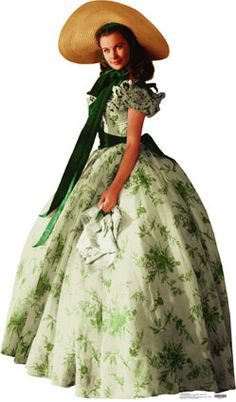 "Scarlett O'Hara in dress from ""Gone With The Wind"" Walter Plunkett"