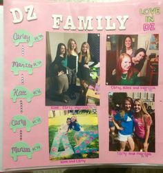 Delta Zeta Sorority, Xi Iota Chapter - 2014 Chapter Scrapbook page for family @kateroe25 @rissamckenna