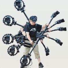 Steadicam Ninja!  Tag a friend who's a ninja with a camera! Photo via @novareelfree #vscofilm #vscocam #instacool #potd #vscogrid #steadicam #cinematographer #videogear #filmmakers #setlife #filmcrew #camerarig #griplife #cameracrew