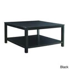 Square Coffee Table with Dual Shelves Solid Wood Legs & Wood Grain Finish (Espresso Finish - Espresso), Brown, OSP Home Furnishings Coffee Table And Side Table Set, Black End Tables, Coffee Table With Drawers, Black Coffee Tables, Black Side Table, White Side Tables, White Coffee, Espresso Coffee, Furniture Deals