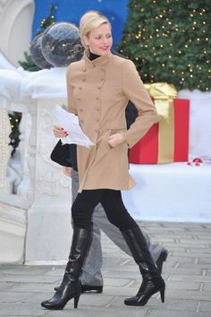 Princess Charlene of Monaco attends the Christmas Celebration For Monaco Children on 12 Dec 2012