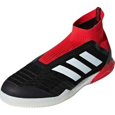adidas Predator Tango 18 Indoor Soccer Shoes - Black White Red Indoor  Football Boots 4612c46ca31f4
