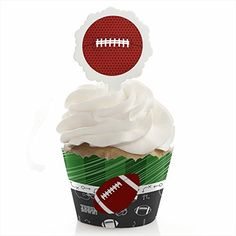End Zone  Football  Cupcake Wrapper  Pick Baby Shower or Birthday Party Kit  Set of 24 >>> You can find out more details at the link of the image.(This is an Amazon affiliate link)
