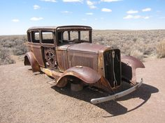 Abandoned classic car in the desert. appreciated by Motorheads Performance www.classiccarssanantonio.com