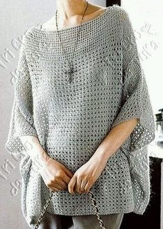 ideas for crochet poncho sweater tricot Crochet Jumper, Crochet Cardigan, Crochet Scarves, Crochet Shawl, Crochet Clothes, Crochet Stitches, Knit Crochet, Crochet Sweaters, Poncho Sweater