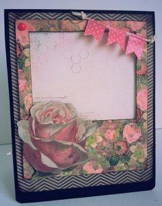 """biglietto pop up """"dark & roses"""" per compleanno : Biglietti di chiara-scrapchic"""