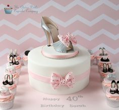 Shoe Cake with Cupcakes | by The Clever Little Cupcake Company