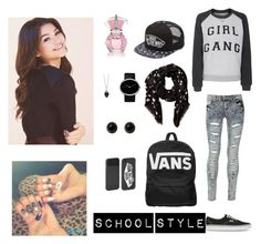 """School Style <3"" by aylajr ❤ liked on Polyvore featuring Zoe Karssen, Blue Inc Woman, Vans, Kate Spade, Georg Jensen, Alexander McQueen and Adele Marie"