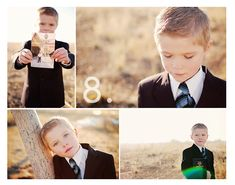 Baptism Photo Shoot- I love the picture of him holding a picture of his Dad as a missionary