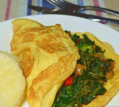Nigerian Food Recipes: Spinach In An Omelette – Mix Up Your Egg Recipe