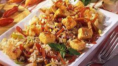 Gerösteter Tofu mit Gemüse