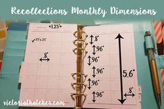 Recollections planner monthly measurements