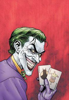 La primera aparición de Joker se produjo en el cómic Batman Nº 1 a comienzos de 1940. La creación conceptual del villano fue concebida por el asistente de arte Jerry Robinson y luego rediseñada por Bill Finger y Bob Kane.