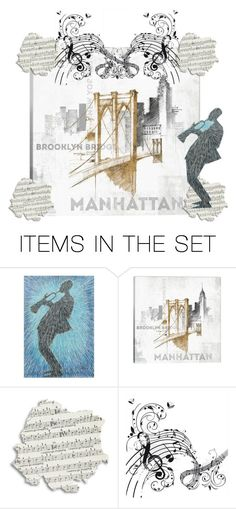 """""""I'll be playing music in Manhattan!"""" by kksnanny ❤ liked on Polyvore featuring art"""