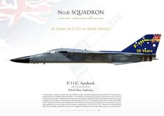 ROYAL AUSTRALIAN AIR FORCEN°6 SQUADRON, RAAF Base Amberely30 Years of F-111 in RAAF service