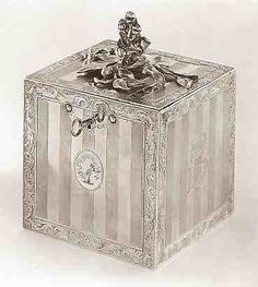 Brodie Family Crest A silver tea box marked by John Parker I and Edward Wakelin