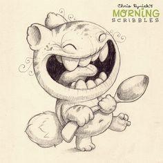 Kawaii! Cute monster critter doodles Chris Ryniak http://chrisryniak.com/ #morningscribbles