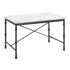Boston Loft Furnishings Artemis White Faux Marble Dining Table with Black Metal Base at Lowe's. White and black simplicity elevates your kitchen functionality. A classic look for your open concept living space or breakfast nook, this small space Faux Marble Dining Table, Counter Height Dining Table, Solid Wood Dining Table, Dining Room Table, Kitchen Dining, Exposed Wood, Modern Farmhouse Style, Engineered Wood, Marble Top