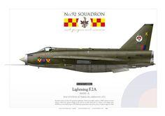 ROYAL AIR FORCE No. 92 Squadron. RAF Station Gutersloh, Germany Pilot: FL Lt B. P. CARROLL