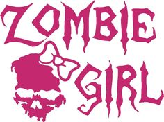Zombie Girl Skull Walking Dead Car Truck Window Laptop Vinyl Decal Sticker #Oracal #Gothic