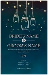 Wedding Invitations & Announcements fireflies mason jars