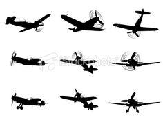 Biplane screenprint