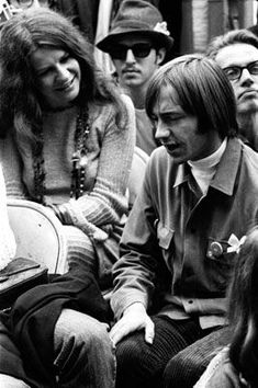 Janis with Peter Tork of the Monkees at the Monterey Pop Festival,1967.
