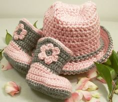 I just listed Western Hat and Boots -Baby Girl Cowboy Gift Set-Pink and Gray--Baby Shower Gift--#207 on The CraftStar @TheCraftStar #uniquegifts