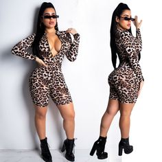 23c49f09a69d New leopard print long sleeve romper UK Size 8-14 FIRST CLASS UK SELLER   fashion  clothing  shoes  accessories  womensclothing  jumpsuitsrompers (ebay  link)