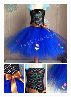 Anna Motif Patch Tutu Dress. Frozen Tutu Dress. Anna Tutu Dress. Beautiful & lovingly handmade. Price varies on size, starting from £25. Please message us for more info. Find us on Facebook www.facebook.com/DiddyDarlings1 or our website www.diddydarlings.co.uk