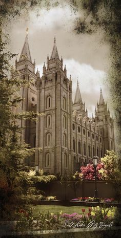Salt Lake Temple, where I wanted to be sealed to my husband for eternity :)