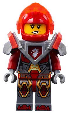 Lego Ash Attacker Orange Horns minifigure from set 70310 Nexo Knights nex005