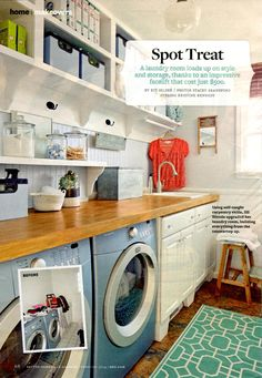 Stylish laundry room built by Jill Nittolo, Better Homes and Gardens 2/2014