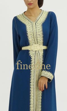 Moroccan Dress, Moroccan Style, Embroidery Fashion, Embroidery Dress, Indian Tunic, Arabic Dress, Hijab Fashion, Free Pattern, Evening Dresses