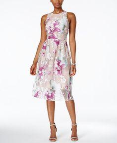Ivanka Trump Floral-Print Fit & Flare Dress