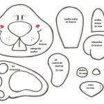Moldes de coelho para EVA ou Feltro | Revista Artesanato