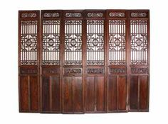 Chinese room divider screen