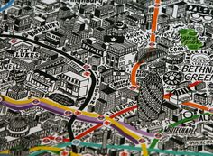 Hand Drawn Map of London: This charming hand drawn map of London by Jenni Sparks shows the boroughs, neighborhoods, and landmarks, as well as quite a few other hallmarks like celebrity birthplaces and local markets.