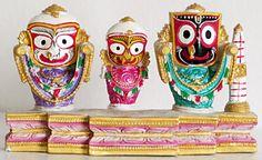 Jagannath and his brother & sister Balarama and Subhadra    The cutest form of god