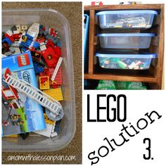 5 Lego Storage Problems SOLVED! Brilliant!!! I love what she did with kits and special projects.