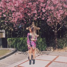 """""""Tô apaixonada pelas cerejeiras, semana passada no Parque do Carmo e hoje aqui no Templo Zu Lai.  Domingo lindo pra todos vocês!"""""""