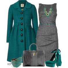 "Love the color combo & modern vintage look!..very classy!!!  ""Sin título #771"" by nuria-pellisa-salvado on Polyvore"