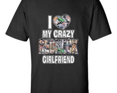 I Love My Crazy Redneck Girlfriend Couples Unisex T-Shirt Valentines Day Gift, Mothers Day, Fathers Day, Halloween couples Shirt, Christmas