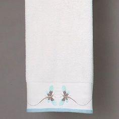 Amazon.com: Dragonfly Aqua Bath Collection - Tip Towel: Home & Kitchen