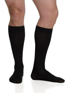 VIM & VIGR's Fashionable Lifestyle Solid Black Compression Socks for Men (Wool)