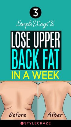 3 Simple Ways To Lose Upper Back Fat In A Week: The good news is shedding upper back fat is easier than you think. Give it three weeks, and you can see a visibly toned upper back. Here are 10 things to do to lose upper back fat. Lose Weight Quick, Quick Weight Loss Tips, Losing Weight Tips, Weight Loss For Women, Diet Plans To Lose Weight, Weight Gain, How To Lose Weight In A Week, How To Lose Fat, How To Loose Weight
