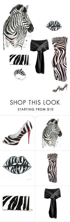 """Zebra Print"" by desireervin ❤ liked on Polyvore featuring Giuseppe Zanotti, Bill Blass, Lanvin and Effy Jewelry"