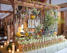 Gorgeous limoncello wedding display